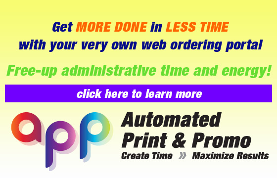 Automated Print and Promo - easy and efficient!